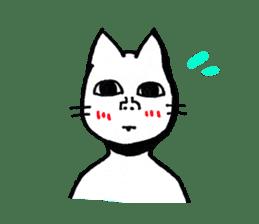 Straight face cat sticker #1095640
