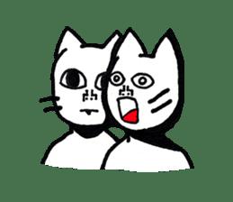 Straight face cat sticker #1095641
