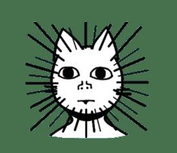 Straight face cat sticker #1095642