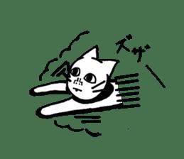 Straight face cat sticker #1095646