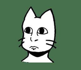 Straight face cat sticker #1095650