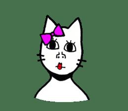 Straight face cat sticker #1095651