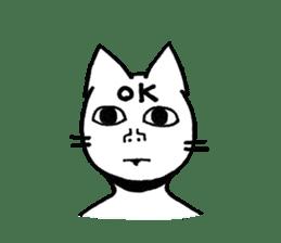 Straight face cat sticker #1095652
