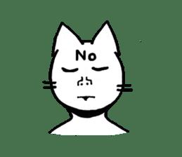 Straight face cat sticker #1095653