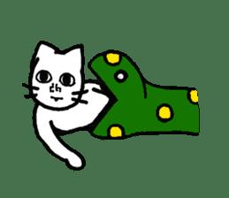Straight face cat sticker #1095659