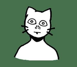 Straight face cat sticker #1095664
