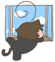 antenna cat sticker #1096504