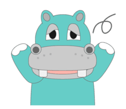 hippo sticker #1096710