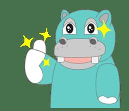 hippo sticker #1096711