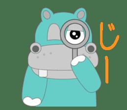 hippo sticker #1096720
