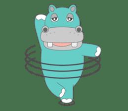 hippo sticker #1096731