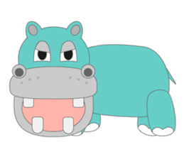hippo sticker #1096740