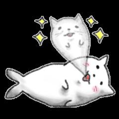 Cat Seal Sticker