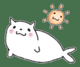 Cat Seal Sticker sticker #1098033