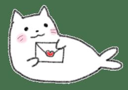 Cat Seal Sticker sticker #1098034