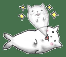 Cat Seal Sticker sticker #1098047