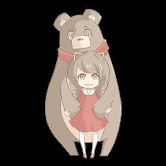 Girl & Animal