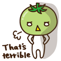 Tomato child English version sticker #1098959