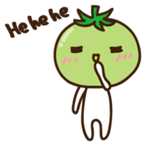 Tomato child English version sticker #1098960