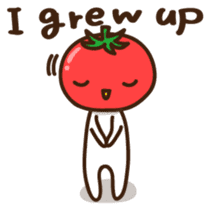 Tomato child English version sticker #1098964