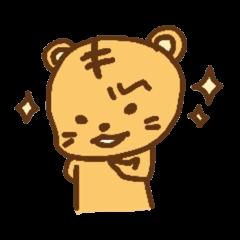 """chibi""tiger sticker"