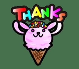 Rabbit Icecream sticker #1100256