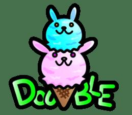 Rabbit Icecream sticker #1100262