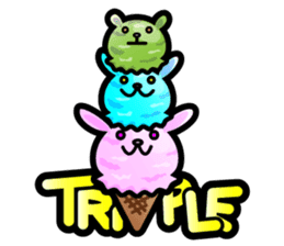 Rabbit Icecream sticker #1100263