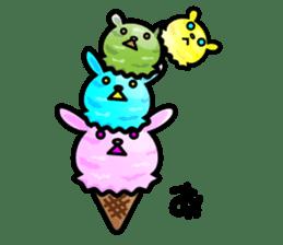 Rabbit Icecream sticker #1100264