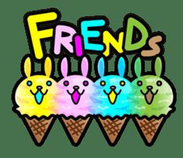 Rabbit Icecream sticker #1100265