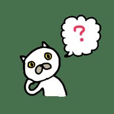 Muhu white cat sticker #1101629