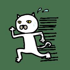Muhu white cat sticker #1101631