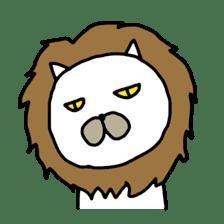 Muhu white cat sticker #1101665