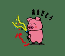 Sticker of the pig sticker #1102950