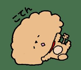 Toy poodle sticker #1103553