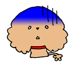 Toy poodle sticker #1103558