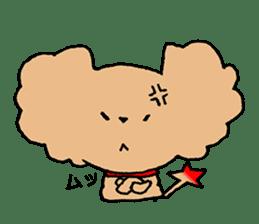 Toy poodle sticker #1103560
