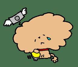 Toy poodle sticker #1103569