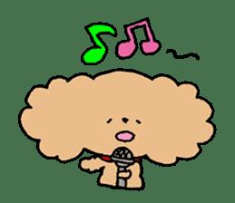 Toy poodle sticker #1103579