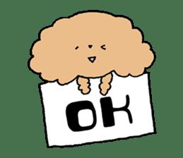 Toy poodle sticker #1103583