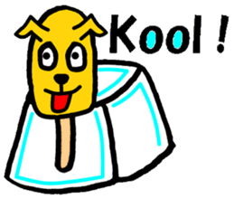 Icecream-dog sticker #1105948