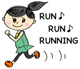 running girl sticker #1106146