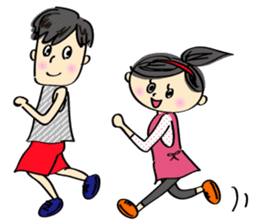 running girl sticker #1106147
