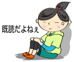running girl sticker #1106157