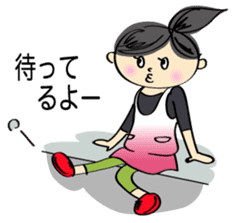 running girl sticker #1106168
