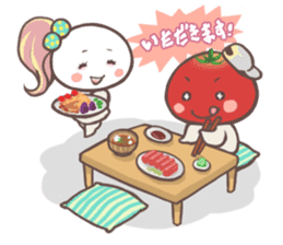 Mr.Tomato & Miss Egg sticker #1106327