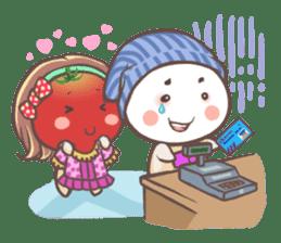 Mr.Tomato & Miss Egg sticker #1106329