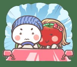 Mr.Tomato & Miss Egg sticker #1106345