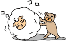The sheep and bear sticker #1107833