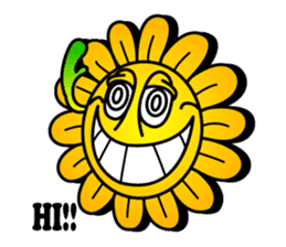 "Happy Flower ""PoPo"" sticker #1108962"